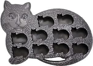 Fairly Odd Novelties FON-10010 Cat Shaped Ice Cube Tray Fun & Cute Animal Replica Mold, standard, Black