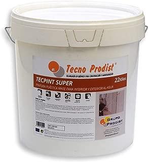 TECPINT SÚPER de Tecno Prodist - 22 Kg (BLANCO) Pintura para Exterior e Interior al Agua - Buena Calidad - Lavable - Fácil Aplicación
