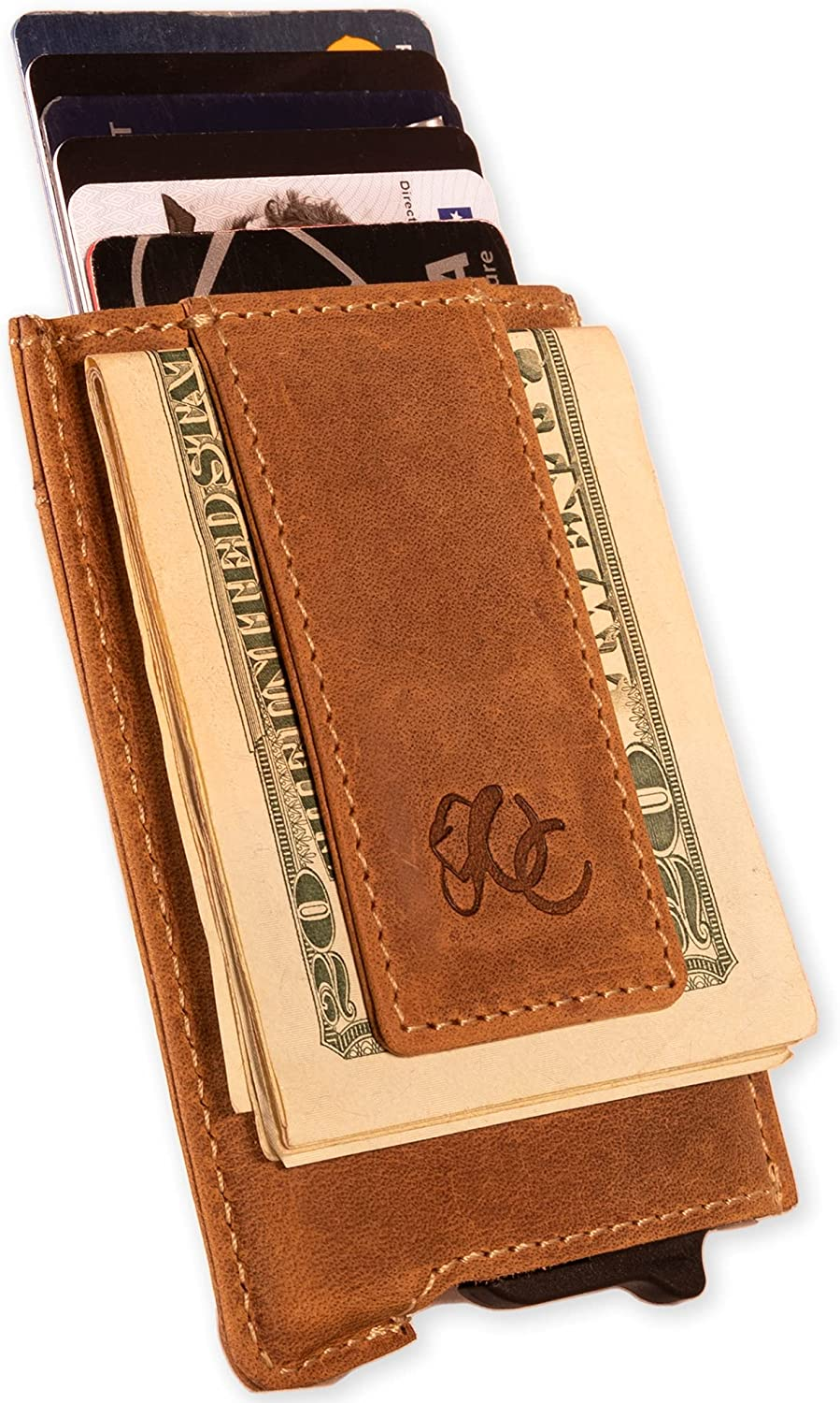 Mens Automatic Pop-Up Wallet with Money Clip by Urban Cowboy – Genuine Leather
