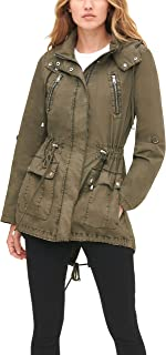 Womens Cotton Hooded Anorak Jacket (Standard and Plus)