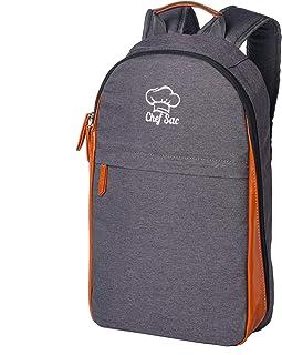 Chef Knife Bag Backpack | 21+ Pockets for Knives & Kitchen Utensils | 2 Large Pockets for Tablet & Notebooks | FORTIFIED BALLISTIC NYLON (Grey)