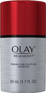 Wrinkle Cream by Olay Regenerist Anti-Aging Wrinkle Revolution Complex Moisturizer Plus Primer, 50 mL