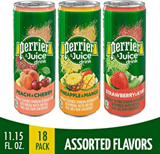 Perrier & Juice Drink, Assorted Flavors, 11.15 Fl Oz Cans (18 Pack)