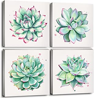 Home Wall Art Décor Succulent Plants Simple Life Canvas Oil Paintings Posters Prints 12