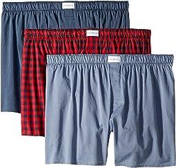 Cotton Classics 3-Pack Woven Boxer