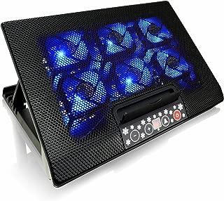 Refrigerador Portatil Estable Construcci/ón con 1 Ventiladore Base PS4 Fan Cooler con Regulaci/ón del /Ángulo de Inclinaci/ón y LED Azul AAB Cooling NC74 Bases de Refrigeraci/ón
