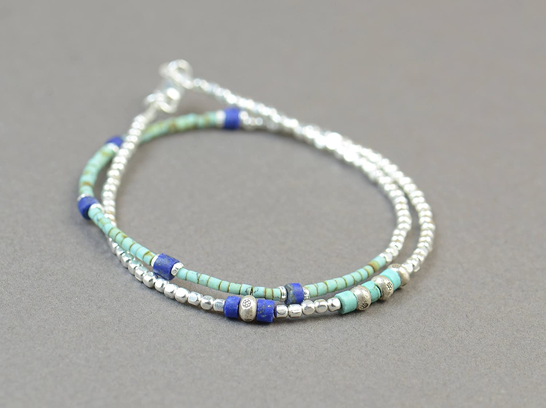 Max 51% OFF Multi strands gemstones and San Antonio Mall bracelet.Brace sterling beads silver