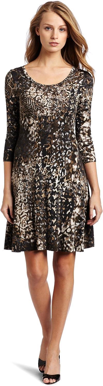 Karen Kane Women's Long Sleeve A Line Dress