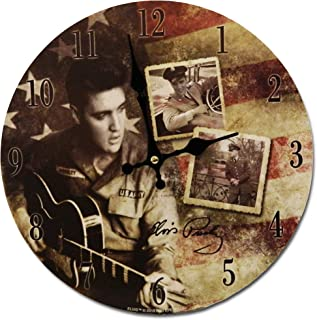 Midsouth Products Elvis Presley Clock - Elvis Army Photos 11.75