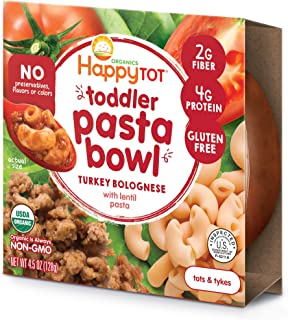 Happy Tot Toddler Pasta Bowl Turkey Bolognese with Lentil Pasta, 4.5 Ounce, 8 Count