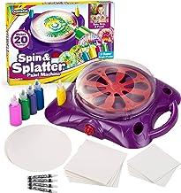 Creative Kids Spin & Paint Art Kit - Spinning Art Machine + Flexible Splatter Guard + 5 Bottles of Paint + 8 Large, 8 Smal...