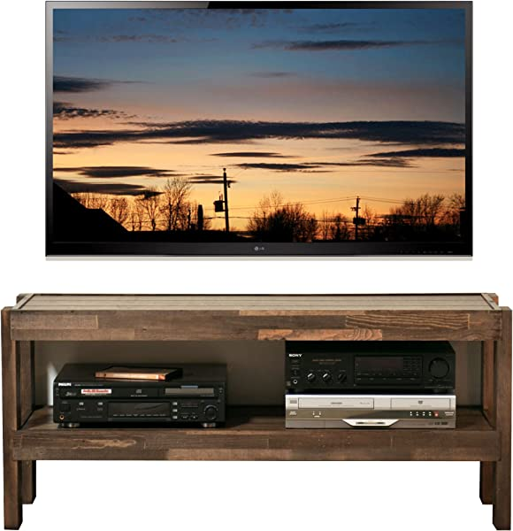 Rustic Reclaimed Barn Wood Style TV Stand PresEARTH Spice