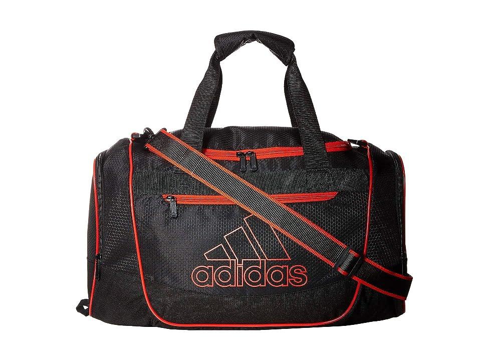 adidas Defender III Small Duffel (Black/Active Red) Duffel Bags