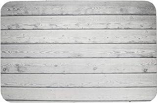 HOUZE BN-7202 Slatted Wood Diatomite Mat, Silver Grey