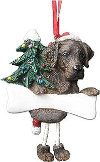 Chocolate Labrador Ornament with Unique