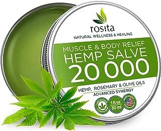 Premium Hemp Balm - Ultra Strong Natural Pain Relief - 20000mg Hemp Extract - Rosemary & Hemp Oil - Anti-Inflаmmаtory for Joint, Muscle, Arthritis Pain - Fast Acting Hemp Salve - Made in USA - Non-GMO