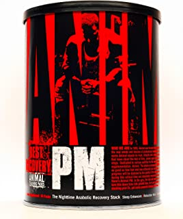 Animal PM - Nighttime Anabolic Recovery Stack - Complete sleep stack - ZMA + GABA + EAA + Valerian Root - 30 night supply