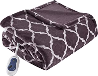 "Beautyrest Plush Heated Throw Blanket – Secure Comfort Technology – Oversized 60"" x 70"", Purple, 60x70"
