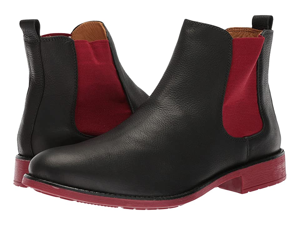 Massimo Matteo Chelsea PT Boot (Black/Red) Men