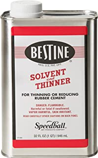 Bestine Solvent and Thinner for Rubber Cement – Cleans Ink, Adhesive and Parts, 32 Ounce Can