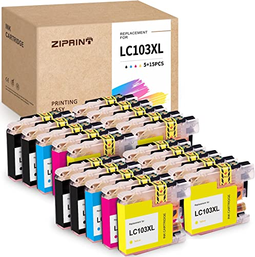 new arrival ZIPRINT Compatible Ink sale Cartridge Replacement for Brother LC103 LC103XL Work with MFC J4310DW J4410DW J4510DW J4610DW J4710DW J6520DW J6720DW J6920DW J285DW J470DW J475DW J650DW 2021 J870DW(8B,4C,4M,4Y,20P outlet sale