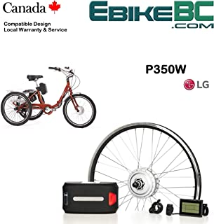 Electric Adult Trike DIY KIT 350/500W E Bicycle E Bike Complete Conversion Kit Front Hub Motor, Battery Li-Ion 32km/h LCD 20 24 26 700C Rim Sizes (Tricycle not Included)