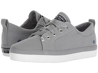 Sperry Kids Crest Vibe Canvas (Little Kid/Big Kid) (Grey Textile) Girls Shoes