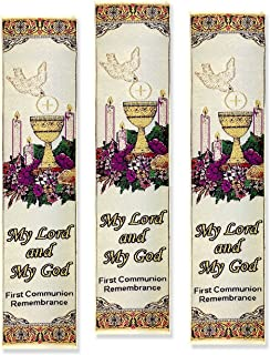My First Holy Communion Remembrance Tapestry Bookmarks, 9 Inch, Set of 3