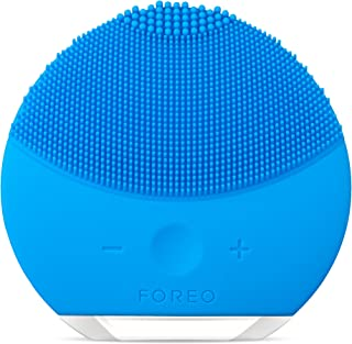 FOREO LUNA mini 2 Facial Cleansing Brush and Anti-aging Skin Care device made with Soft Silicone for Every Skin Type Aquamarine,