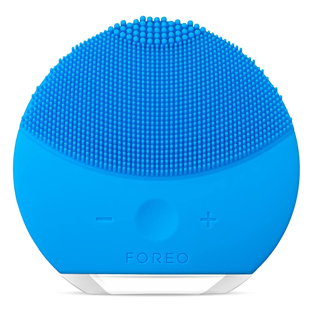 不可能な近所の織るLUNA mini 2 アクアマリン 電動洗顔ブラシ シリコーン製 音波振動