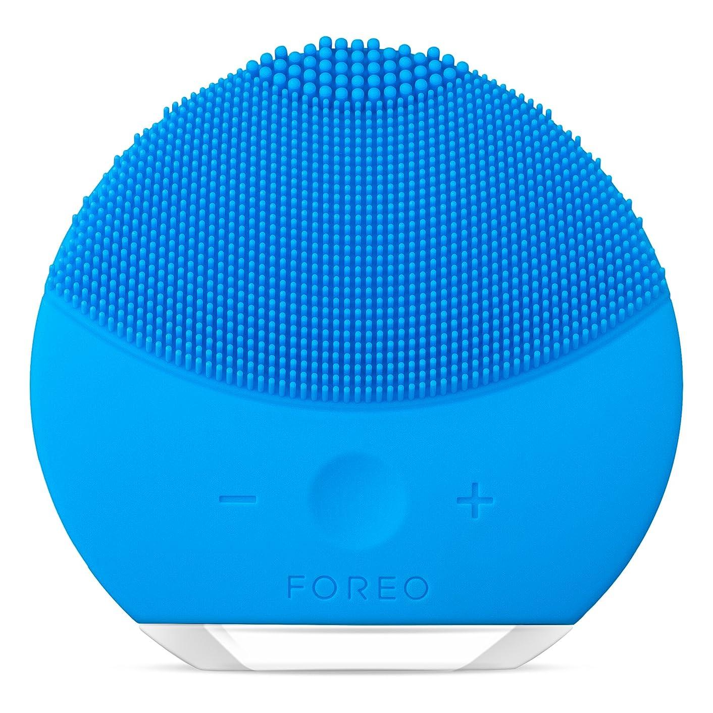 装備する発掘チートFOREO LUNA mini 2 アクアマリン 電動洗顔ブラシ シリコーン製 音波振動