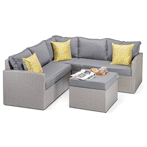 Alexandria Rattan Corner Sofa Reviews: Outdoor Corner Sofa: Amazon.co.uk