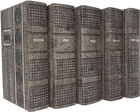 Artscroll Machzorim 5 Volume Set Pocket Size Ashkenaz Gray Stone Faux Leather for Rosh HaShanah Yom Kippur Sukkot Pesach and Shavuot