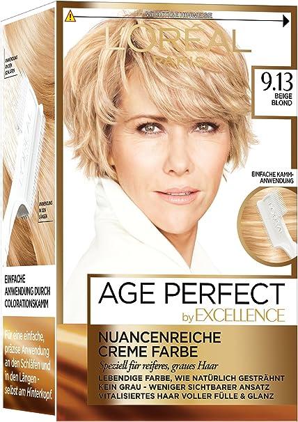 LOréal Paris excelencia Age Perfect coloración, 9.13 color ...