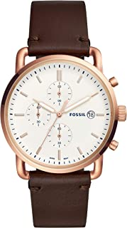 Fossil Men's Quartz Watch chronograph Display and Leather Strap FS5476