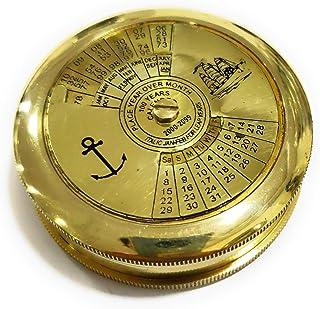قطب نما برنجی دریایی NauticalMart با تقویم دریایی