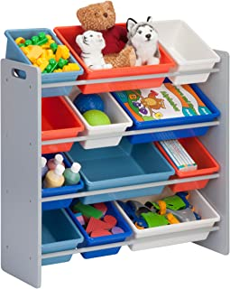 Honey-Can-Do SRT-06475 Kids Toy Organizer and Storage Bins, Gray