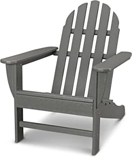 POLYWOOD AD4030GY Classic Outdoor Adirondack Chair, Slate Grey