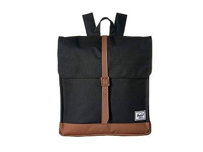 Herschel Supply Co. City Mid-Volume (Black/Saddle Brown) Backpack Bags