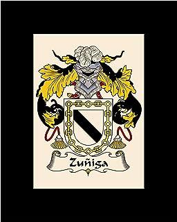 Carpe Diem Designs Zuniga Coat of Arms/Zuniga Family Crest 8X10 Photo Plaque, Personalized Gift, Wedding Gift
