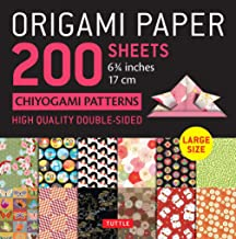"""Origami Paper 200 Sheets Chiyogami Patterns 6 3/4"""" (17cm): Tuttle Origami Paper: High-Quality Double Sided Origami Sheets ..."""
