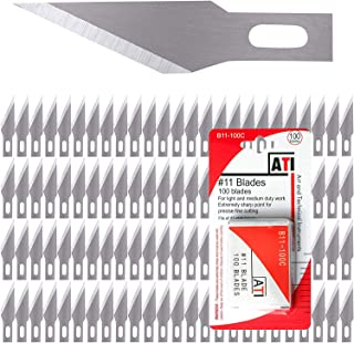 WA Portman Hobby Knife Blades - 100 Count Knife Blade Refill Pack - Carbon Steel Knife Blades for Art and Craft Projects -...