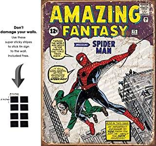 Tin Sign Marvel Comic Series Spiderman Super Hero Metal Tinsign Retro Vintage No Damage to Wall