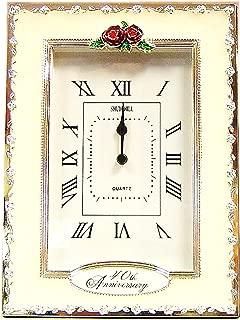 Happy 40th Ruby Wedding Anniversary Quartz Table Clock Gift Present