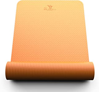 The Balance Co. Premier Non-Slip Yoga Mat | Eco Friendly TPE Material, Thickest on Market | One Year Warranty | Fitness | Yoga Mat Fitness | Exercise Mats