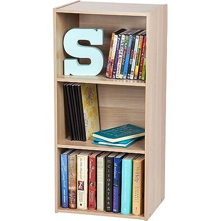 Marque Amazon- Movian Bookcase CX-3 Meuble de rangement cube 3 niches/Etagère 3 casiers, MDF, Chêne Clair
