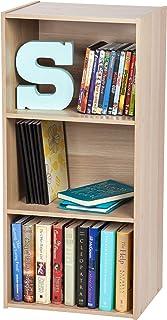 Movian Bookcase CX-3 Meuble de rangement cube 3 niches/Etagère 3 casiers, MDF, Beige