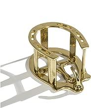 Intrepid International Brass Horseshoe Bridle Rack