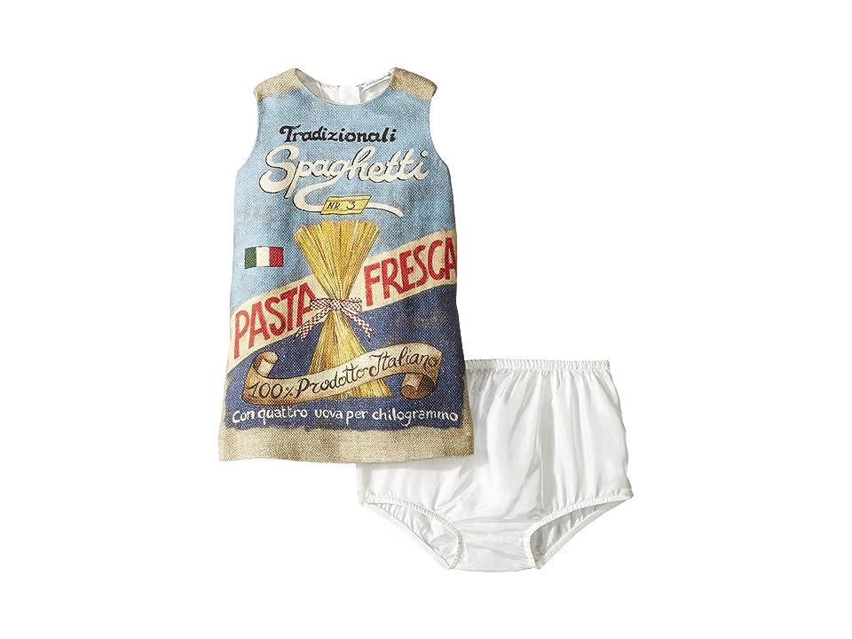 Dolce & Gabbana Kids Spaghetti Dress (Infant) (Beige Print) Girl