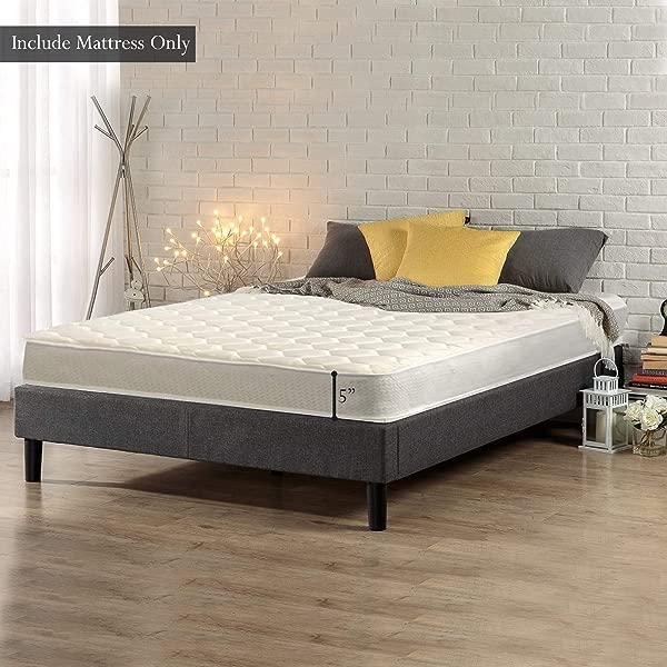 梅顿中号公司 5 英寸高密度聚乙烯泡沫床垫双米色